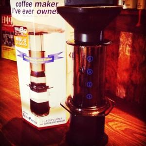 喫茶スロース コーヒー教室 エアロプレス