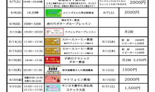 喫茶スロースナマケモノ大学6月